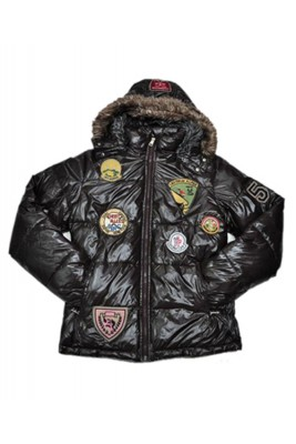 Moncler Multiple Logo Men And Women Down Jacket Hooded Coffee
