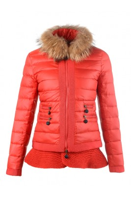 2016 Fashion Moncler Jackets Womens Outlet Red