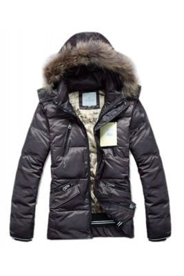 Moncler Top Quality Down Jackets For Men Multi Zip Style Coffee