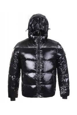 Moncler Top Quality Men Down Jackets Stuffing Wool Hat Black