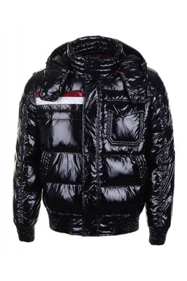Moncler Winter Classic Men Jackets Fabric Smooth Shiny Black
