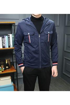 2018 Moncler Jackets For Men 162528 Black Dark Blue