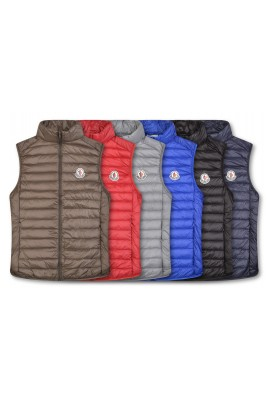 2018 Moncler Vests For Men 162922 Black Gray Red Blue Brown Dark Blue