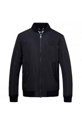 2018 Moncler Jackets For Men 162957 Black Orange