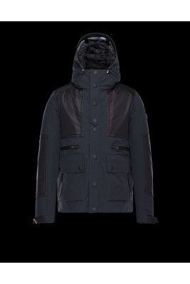 2018 Moncler Jackets For Men 163046 Black Blue
