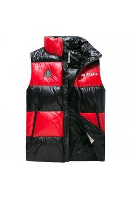2018 Moncler Vests For Men 163055 Black Red