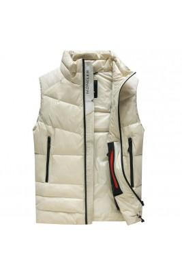 2018 Moncler Vests For Men 163100 Black Beige